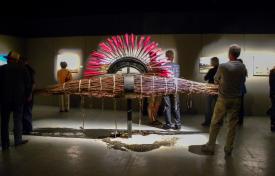 Exhibition SEED CATCHERS, Atlantic Visual Arts Festival, Caraquet, N.-B., Canada - 2014
