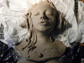 In process, modelling clay - 2014