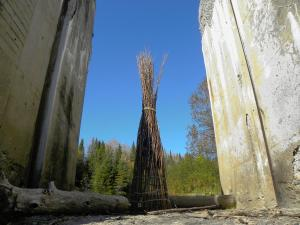 SEED CATCHERS, abandoned structure on Rivière-Quisibis road, N.B. - 2013