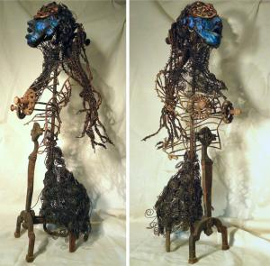 Medusa, found objects, wire, polymer, 94 x 36 x 42 cm - 2008