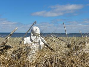 Project: SHELL BODIES, ceramic, Miscou Island, NB, Canada - 2015