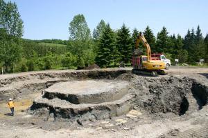 Excavation work started June 15, 2011