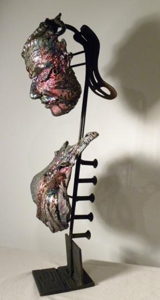 Kelpskin, ceramic raku, metal - 2011