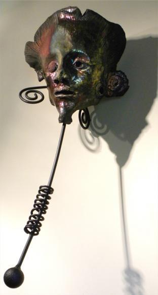 L'homme du vent, raku, 62 x 25 x 29 cm - 2016