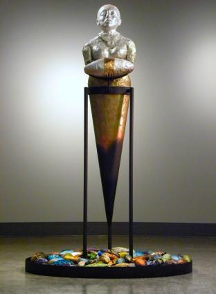 COCONS, collection publique de la Ville d'Edmundston, céramique, cuivre et métal, 202 x 122 x 122 cm - 2014