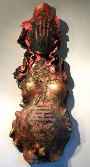 The Red Fairy, ceramic, 84 x 32 x 13 cm - 2016