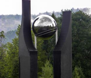 Détail KHRONOS, art public permanent, earthwork, Jardin botanique du Nouveau-Brunswick - 2011