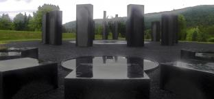 KHRONOS, permanent public art, earthwork, New Brunswick Botanical Gardens - 2011