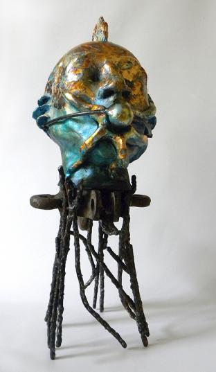 Homme étoile de mer, céramique, métal - 2020