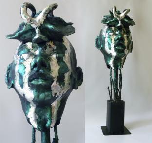 Trilobite Man, ceramic, metal, 66 x 22 x 24 cm - 2020