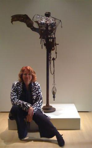 The artist at the exhibition - Beaverbrook Art Gallery - 2008
