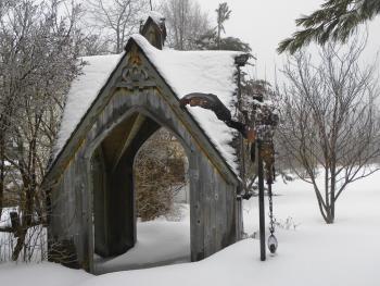 Sculpture dans mon jardin l'hiver ...