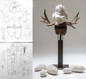 Sketches and sculpture - 2014